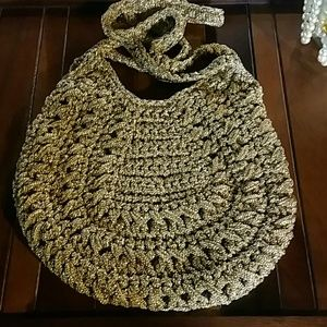 Handbags - Vintage Gold Lame purse